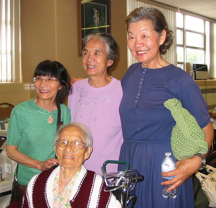 Sr Eugenio with Chinese visitor
