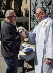2018 Pet Blessing - Dog being blessed