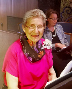 Sr. Evelyn Brokish was also a musician at the Jubilee Mass.