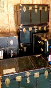 Sisters' travel trunks for sale