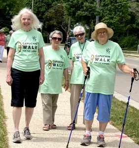 Four sisters in Walk for Hungry